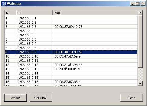 WakeUp.exe – простейшая программа для удаленного включения электропитания с графическим интерфейсом