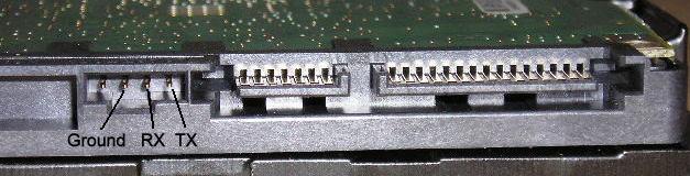 Разъем подключения терминала к диску